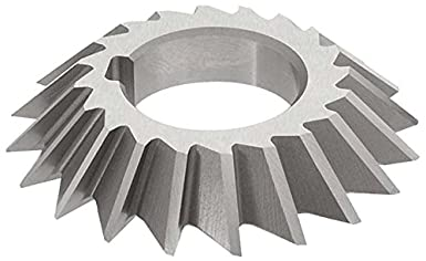 TiAlN Coating 1-1//4 Arbor Hole 5//16 Width Standard Cut KEO Milling 84095 Staggered Tooth Milling Cutter,S Style 3 Cutting Diameter HSS 18 Teeth