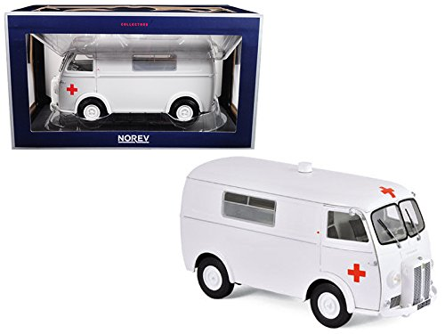 1963 Peugeot D4B Ambulance 1/18 Diecast Model Car by Norev 184699