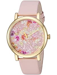 Women's TW2R66300 Crystal Bloom Pink/Gold Floral Leather Strap Watch