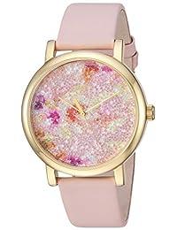 "Timex - Reloj de pulsera para mujer, carátula de tela Swarovski, 38 mm ""Crystal Bloom"", Pink/Gold Floral"