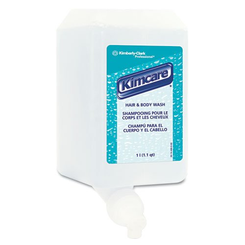 800 Liquid Soap Ml System (KIMBERLY-CLARK PROFESSIONAL* KLEENEX Hair & Body Wash, Citrus Floral, 1L, Bottle - Includes six 1-Liter bottles.)