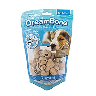 DreamBone Mini Dental Chews 16 Count, Rawhide-Free Chews For Dogs, Helps Maintain Healthy Teeth