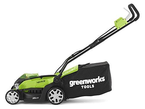 Greenworks Tondeuse à gazon sans fil sur batterie 35cm 40V Lithium-ion avec...