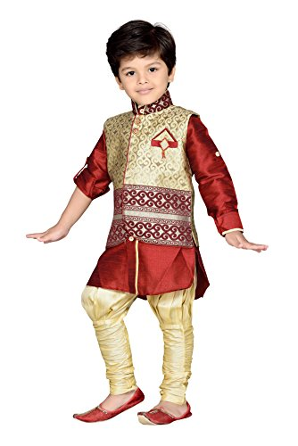 043cd2fe07 AJ Dezines Kids Indian Wear Bollywood Style Kurta Pyjama Waistcoat for Baby  Boys (636-