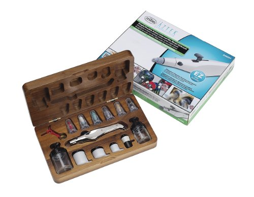 Aztek A4809T Deluxe Metal Airbrush Set with Wood -