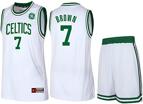 reputable site cd3d0 1610f NBA Boston Celtics Jaylen Brown #7 Men's Basketball Jersey ...