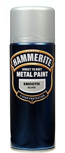 Hammerite Metallfarben-glatte Silber 400ml Aerosol