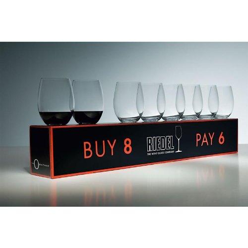 Riedel O Cabernet/Merlot Wine Tumbler Sets, Set: Set of 8