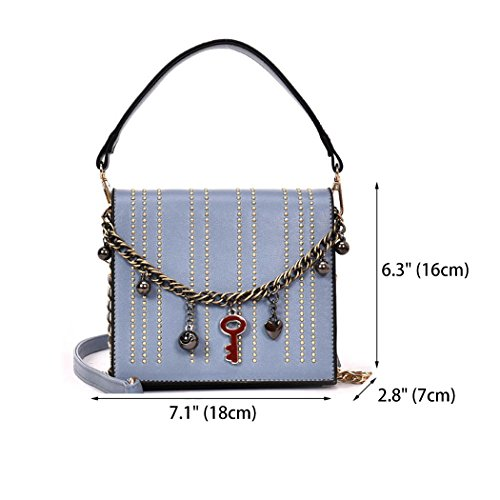 Cross Leather Bags Body Shoulder Blue Handbags Handle Bags Bags Faux Women's Top Zwq4dg