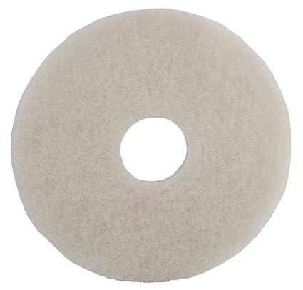 White Floor Maintenance Pad For High Speed Machine Dry Polishing 43cm 17