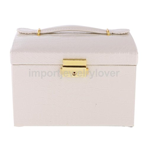 Vipasnam Pu Leather Travel Jewellery Box Beauty Case Holder Storage Organizer Main Color Beige