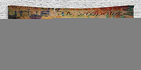 Cotton Microfiber Bathroom Towels Ultra Soft Hotel SPA Beach Pool Bath Towel NYC Collection Grunge Style Complex Artsy Montage of NYC Letters on Magazine Cover Popular Brooklyn Borough Life Multi
