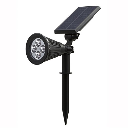 soled 2-in-1 Solar Powered 4 LED Wall and Landscape Light, Adjustable Waterproof Outdoor Lighting Spotlights Security Lighting - Case 6 Tarps