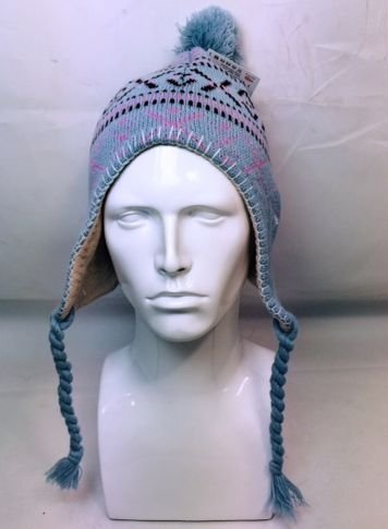 Mens Womens Ladies Pom Pom Snowflake Hat with Ear Flaps Plaits Bobble Hat  Ski 3 Colours Soft (Blue)  Amazon.co.uk  Kitchen   Home fd0cdc78c83