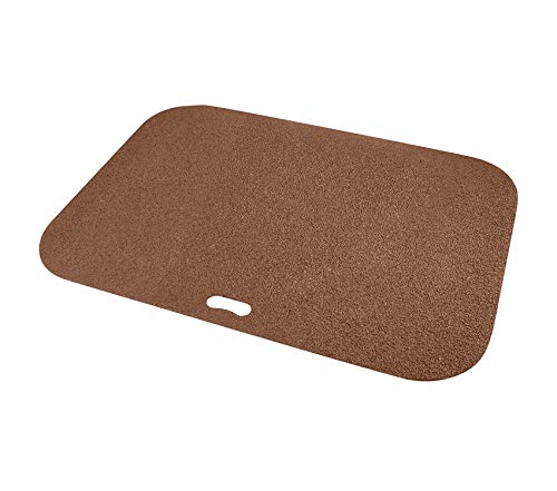 Garden Décor Premium BBQ Floor Mat - Put Under Gas Grill, Fryer, Fire Pit - Protects Decks and Patios - 30 x 42 Inches - Rectangle - Brown
