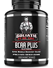 BCAA + 1500mg Glutamine - Highest Capsule Dose (3200 mg) - Branched Chain Amino Acids w/ Optimal 2:1:1 Ratio - Enhanced Recovery & Growth Stack for Men and Women (150 Pills)