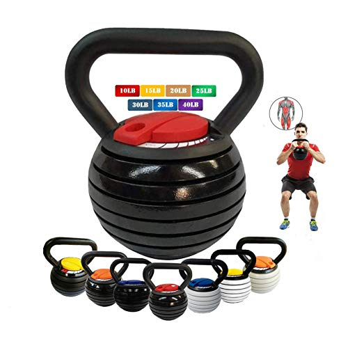 10-40LBS Kettlebell Weights Set, Adjustable Kettle Bells Weight Sets for Men Women Strength Training Exercise, 10 15 20…