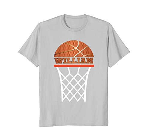 Mens Basketball Apparel | Custom Name William Youth Graphic Shirt Large (Custom Youth Anvil)