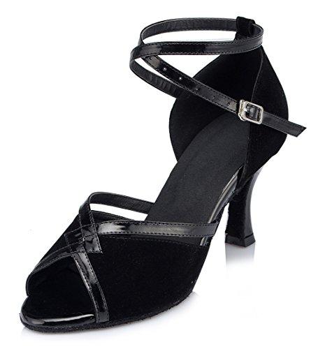 Suede Joymod De Heel 5cm MGM 7 Black Mujer Salón RaXdnxFq