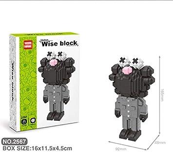 Zenghh 3D Pixel Bloques Bloques de construcción de juguete precioso Calle Scblock sésamo negro medio Anatomía de Grey Nano Micro Bloques del diamante bricolaje Juguetes ensamblamiento de la muñeca for