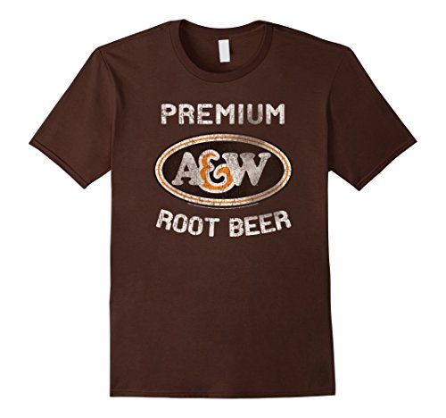 Men's A&W Root Beer Logo T-Shirt | Classic Look style 18835 3XL Brown