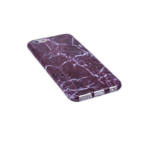 ZXLZKQ pour iPhone 7 Plus Etui Ultra Mince Pourpre Blanc Naturel Marbre Motif Souple TPU Silicone Case Housse Coque pour Apple iPhone 7 Plus (non applicable iPhone 7)