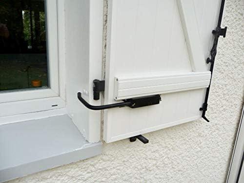 Sistema de bloqueo de volante, SPECIAL PVC: 2 topes de sección 2 adaptadores de PVC con asa para abrir y cerrar fácilmente las contraventanas de tablas longitud 578 mm sin se pencher.
