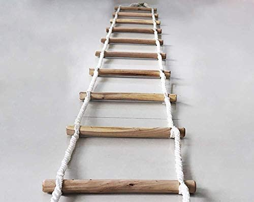 Escalera de Cuerda Escalera de Seguridad contra Incendios con Mosquet/ón de Gancho Implementaci/ón R/ápida y F/ácil de Usar para Ni/ños y Adultos Escapar de la Ventana y el Balc/ón