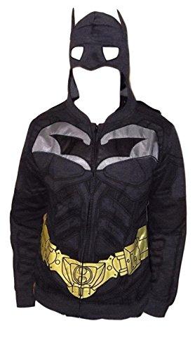 Batman Hoodie Mask (DC Comics Batman Costume Hoodie W/Mask and Cape)