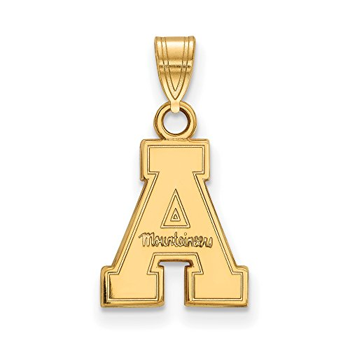 Appalachian State Small (1/2 Inch) Pendant (14k Yellow Gold) by LogoArt