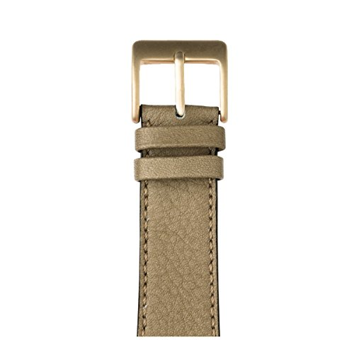 Roobaya | Premium Sauvage Leather Apple Watch Band in Light Gray | Includes Adapters matching the Color of the Apple Watch, Case Color:Gold Aluminum, Size:42 mm by Roobaya