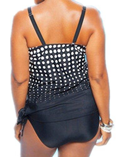 Crazycatz@Damen Tankini Sets Bademode Loose Fit Sporty Swimwear