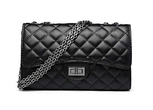 Moonlitt Women's Classic Chain Quilted Purse Crossbody Shoulder Bag Clutch Envelope Handbag