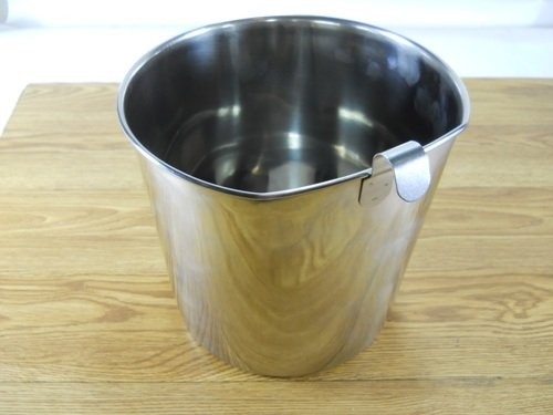 Two Quart Flat side Pail Stainless with hook