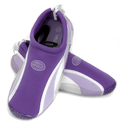Aqua-Speed Aquashoes - Water Shoes For Beach - Sea - Lake - Ideal Bath Shoes For Protection For Feet - # As12b Violet eYJwB