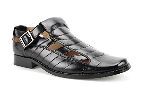 093b2a7e96a38 Majestic Men's 33302 Closed Toe Buckle Dress Shoe Sandals - Import ...