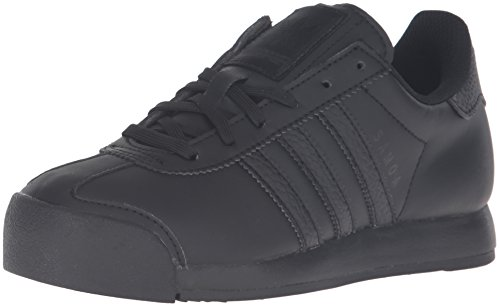 adidas Originals Boys' Samoa J Running Shoe, Black, 6 M US Big Kid