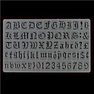 20mm Old English Lettering Stencil