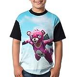 Cuddle Team Leader Kid's Boy's Girl's Short Sleeve Round Neck Funny Tank T-Shirt L