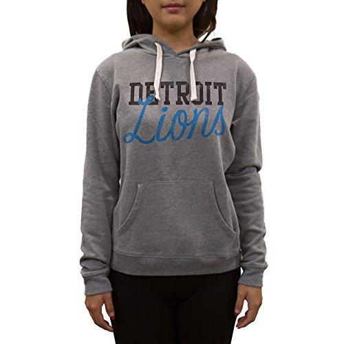 Nfl Detroit Lions Womens Sweatshirt  Large  Medium Heather Grey