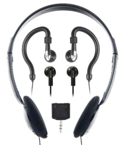 Sentry HO894 Headphone with 2-Way Splitter Plug - 3 Pack (Headphones Head Sentry The Over)