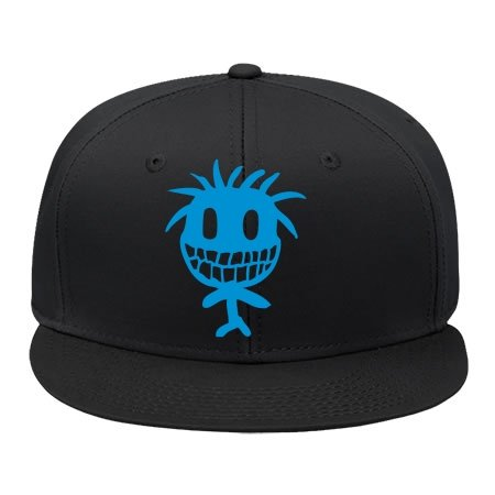Male/female Zulu Smiley Alteerian Black Hip Hop Cap Hat Adjustable Snapback Cotton - Smiley Black Cap