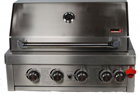 Built-In 460, Zurich Series All Stainless Steel 4 Burner Unit, Infrared Rear Burner and Rotisserie Kit