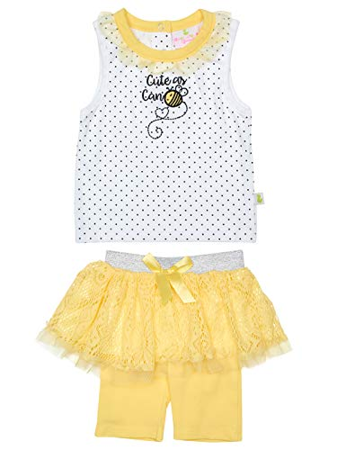 - Duck Duck Goose Infant Girls' 2-Piece Tutu Bermuda Short Set with Adorable Tops and Bow Detail, Bumble Bee, Size 12 Months'
