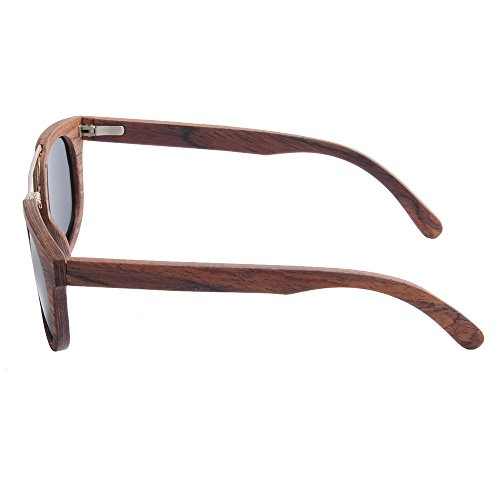 de de gafas sol polarizada hombres hecha TAC al protección de de marco de pesca playa a tiras de Lens conducción Ojos madera de UV de Gray los Personalidad gafas Gray sol Color gato mano aire libre PUxdwxO