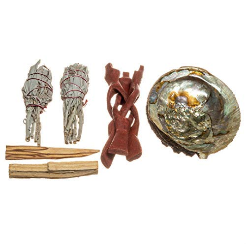 Abalone Smudge Kit | 1 Large Polished Abalone Sea Shell, used for sale  Delivered anywhere in USA