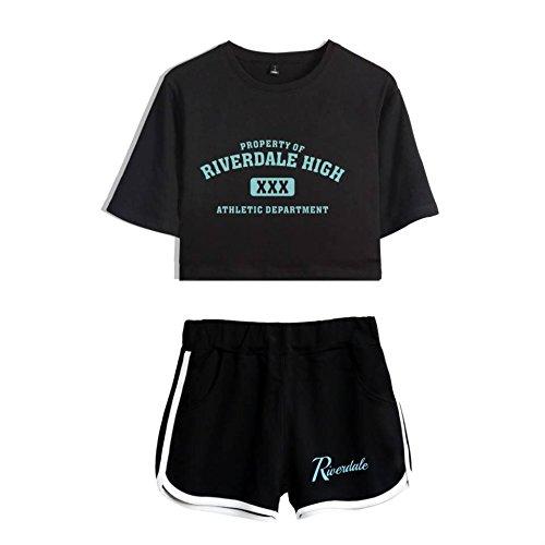 Riverdale Southside Serpents Fans Set Expuestos Pantalones Cortos Ombligo Riverdale Camiseta