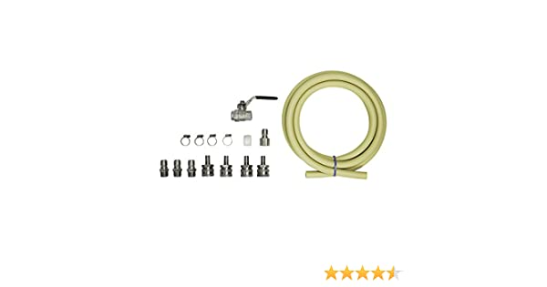 Northern Brewer Transfer Quick Pump Connector Kit with 1//2 NPT Fittings