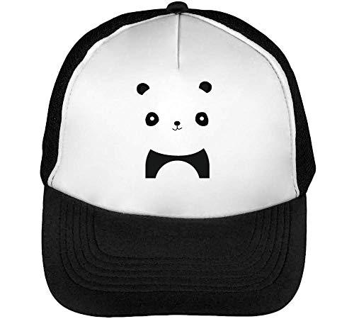 Panda Gorras Hombre Snapback Beisbol Negro Blanco