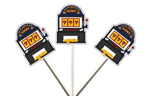 Slot Machine Cupcake Toppers, Slot Machine Birthday, Slot Machine Decorations, Vegas Cupcake Toppers